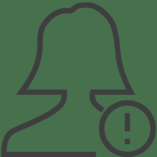 User-woman-alert icon