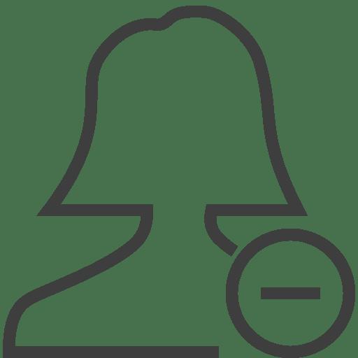 User-woman-remove icon