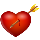 Arrow and heart icon
