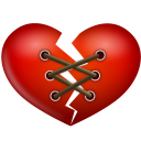 Stitch-heart icon