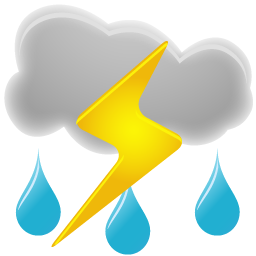 Thunderstorms Icon | Weather Iconset | Custom Icon Design
