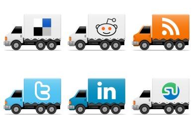 Social Trucks Icons