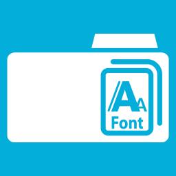 Folders OS Fonts Metro icon