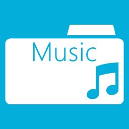 Folders OS Music Folder Metro icon