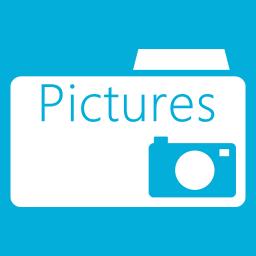 Folders OS Pictures Folder Metro icon