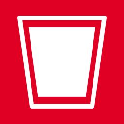 Folders OS Recycle Bin Full alt Metro icon