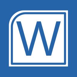 Office Apps Word alt 1 Metro icon