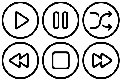 Audio Video Outline Icons