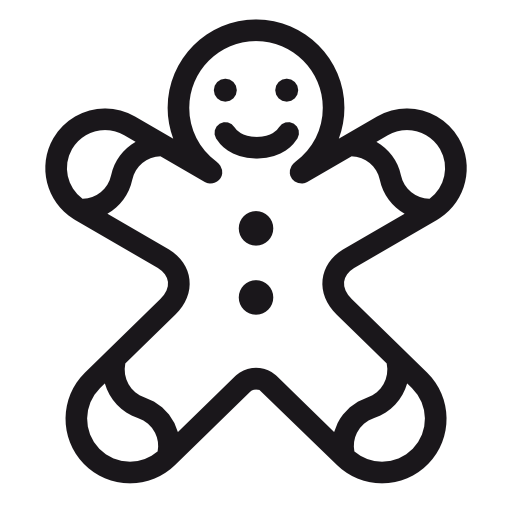 Gingerbread-man icon