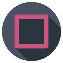 Playstation square dark icon