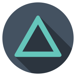 Playstation triangle dark icon