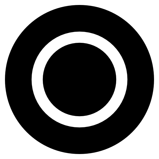 Playstation circle black and white icon