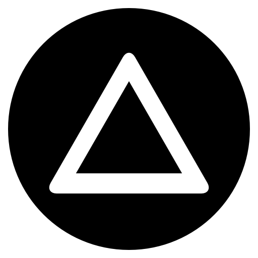 Playstation triangle black and white icon