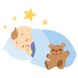 Baby sleeping icon