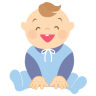 Baby-laughing icon