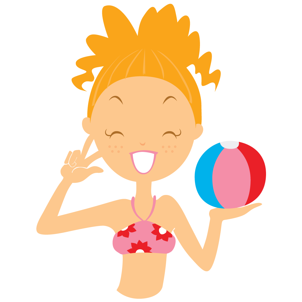 beach girl ball icon beach girl iconset dapino