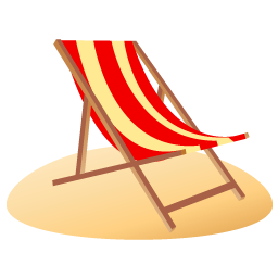 Beach chair icon beach iconset dapino beach chair icon voltagebd Gallery
