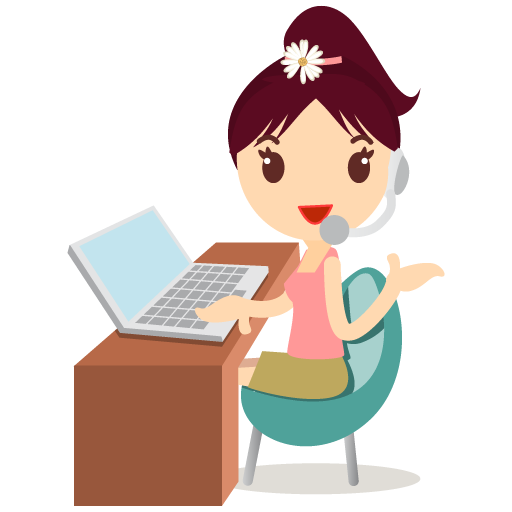 Callcenter girls flower icon