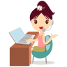 Callcenter-girls-flower icon