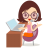 Callcenter-girls-glasses icon