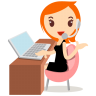 Callcenter-girls-orange icon