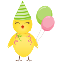 Party chicken icon