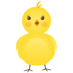 New born chicken icon