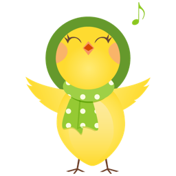 Singing chicken icon
