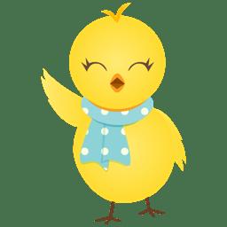 Waving chicken icon