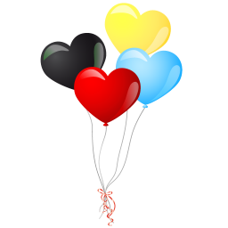 heart balloons icon
