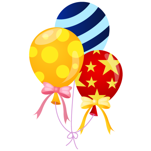 Balloons Icon | Event People Carnival Iconset | DaPino