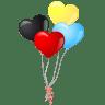 Heart-balloons icon