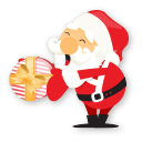 santa gift icon
