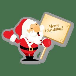 Santa merry christmas icon