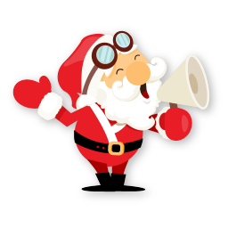 santa shout icon