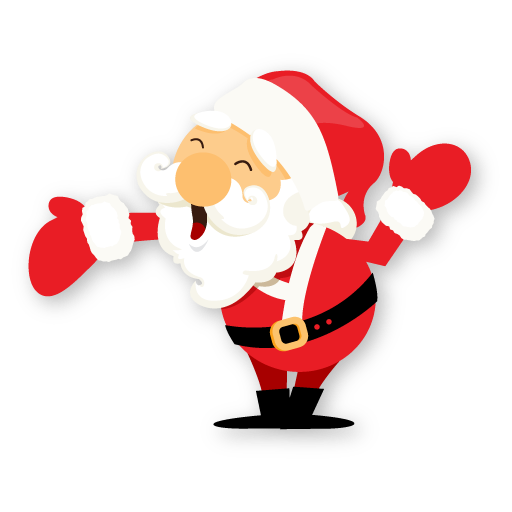 santa hand icon