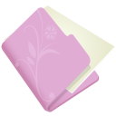 Folder-flower-lila icon