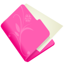 folder flower pink icon