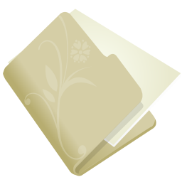 folder flower beige icon
