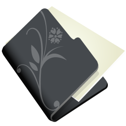 Folder flower black icon