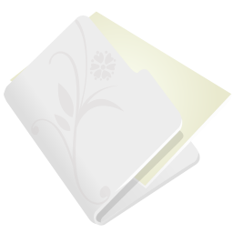 Folder flower light grey icon