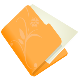 folder flower orange icon