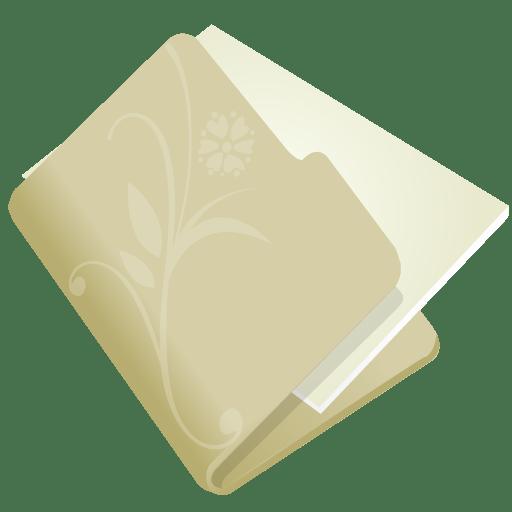 Folder-flower-beige icon