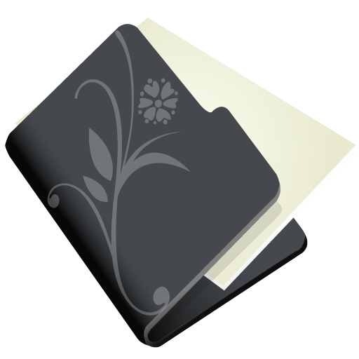 Folder flower black icon