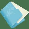 Folder-flower-blue icon