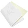 Folder-flower-light-grey icon