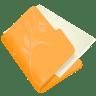Folder-flower-orange icon