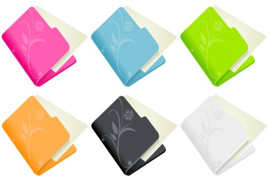 Flowered Folder Icons