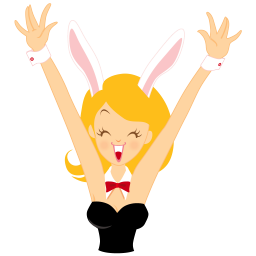 girl bunny happy icon