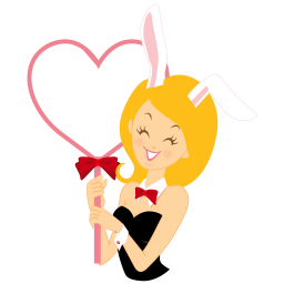 girl bunny heart icon